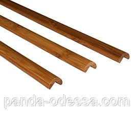 Бамбуковий молдинг кутовий зовнішній, темний