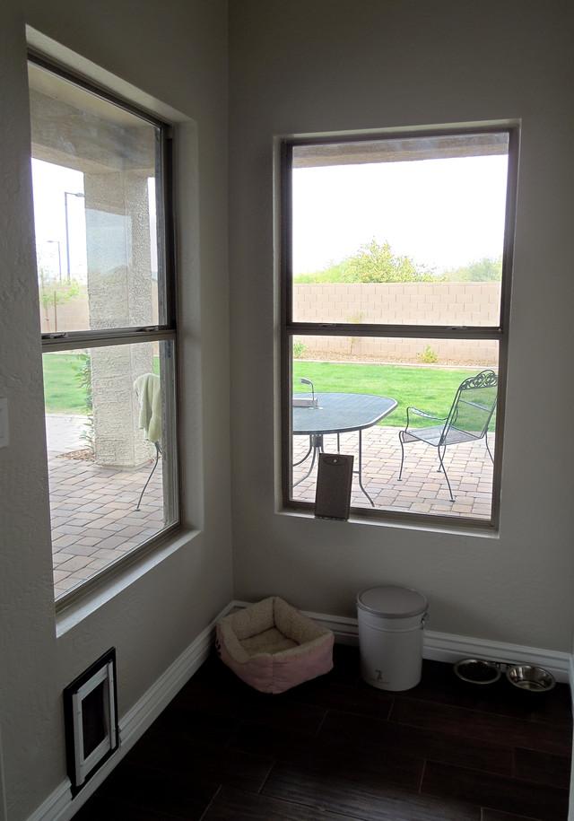Шторы на окна - до и после