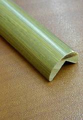 Бамбуковий молдинг кутовий зовнішній, сіро-зелений