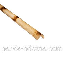 Бамбуковий молдинг кутовий зовнішній, черепаховий світлий