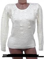 Нарядный теплый свитер для женщин  прекрасное доп