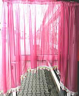 Кухонная занавеска (малиновая), фото 1