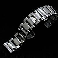 Браслет для часов из нержавеющей стали, литой, полированный. 22-й размер
