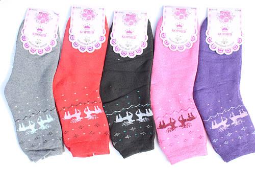 Махровые женские носки «Корона» 37-42