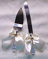 Нож и лопатка на свадебный торт Бант
