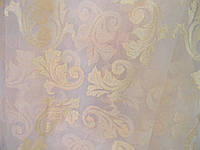 Гардина кристалон с вышивкой персик
