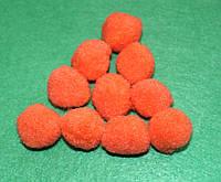 Помпоны   оранжевые  720 упаковка 10 шт.
