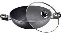 Сковорода - Вок с керамическим покрытием D 32 см