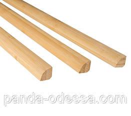 Бамбуковый молдинг угловой внутренний (четверть круга), светлый
