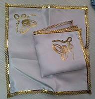Свадебные платочки (атлас, печать) № 12 золото