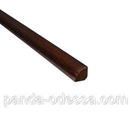 Бамбуковий молдинг кутовий внутрішній (чверть кола), венге