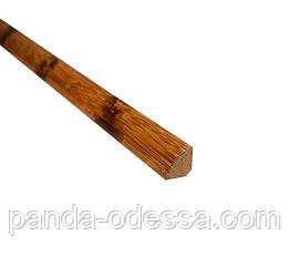 Бамбуковий молдинг кутовий внутрішній (чверть кола), черепаховий темний