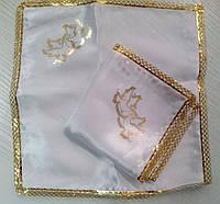 Свадебные платочки (атлас, печать) № 13 золото