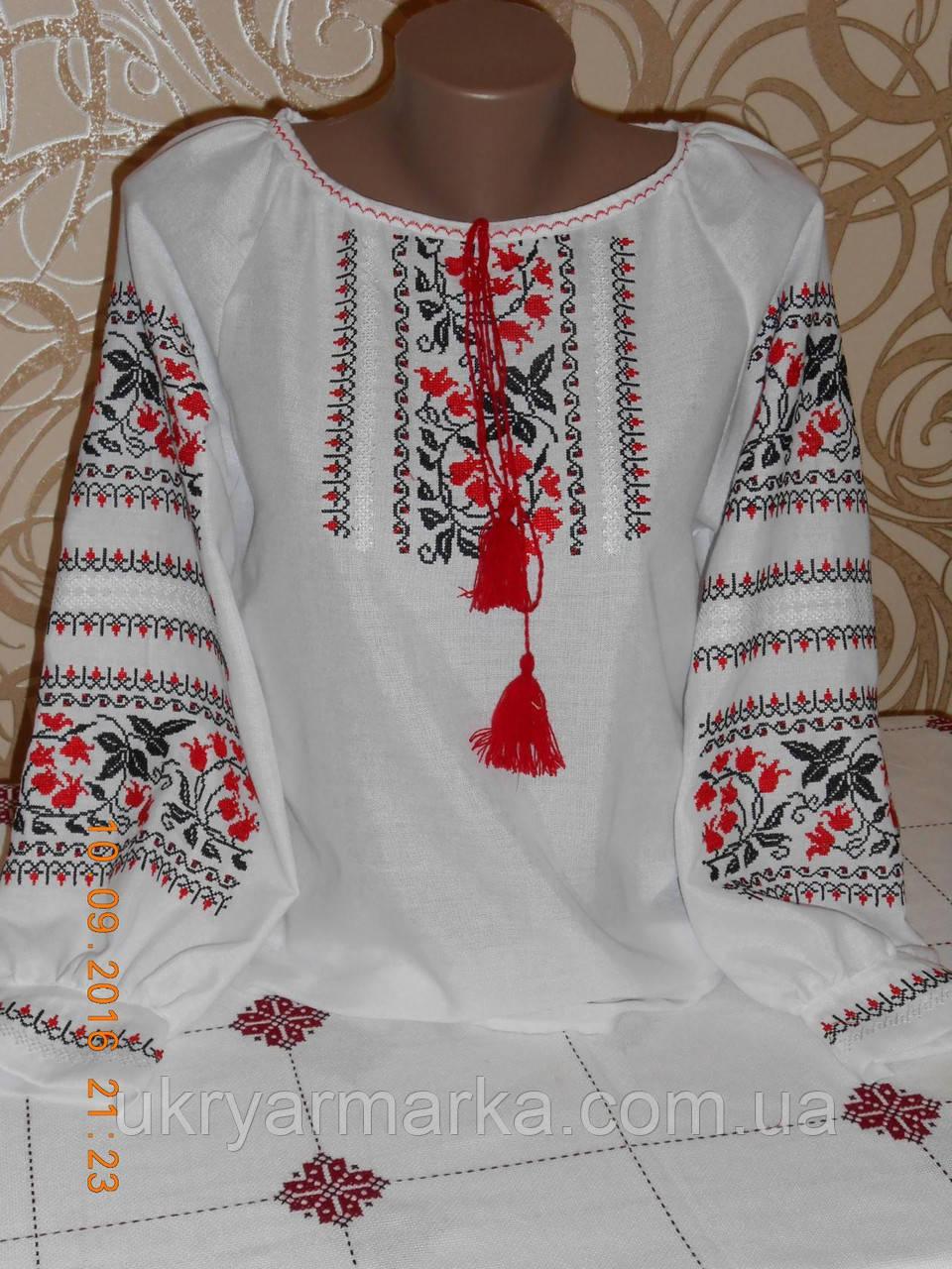 """Вишивана сорочка """"Подільська"""" червона"""