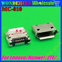 Lenovo ZTE Huawei гнездо разъём micro USB