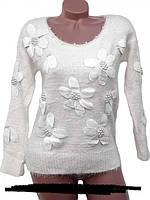 Модный женский свитер-пушистик  стильная новинка