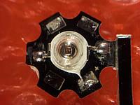 Светодиод красный мощность 3 Вт  с охлаждением., фото 1
