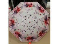 Красивый зонт трость с цветами