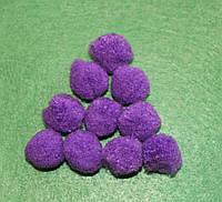 Помпоны   фиолетовые  723 упаковка 10 шт.