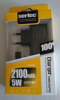 Универсальное СЗУ Micro USB Sertec 2100 mAh ST-034