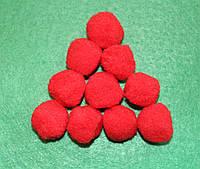 Помпоны   красные  725 упаковка 10 шт.