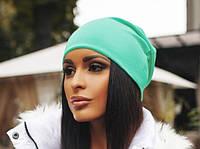 Женская шапка, мята