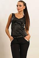 Атласная блуза эффектом корсета с кружевом 42-52 размера