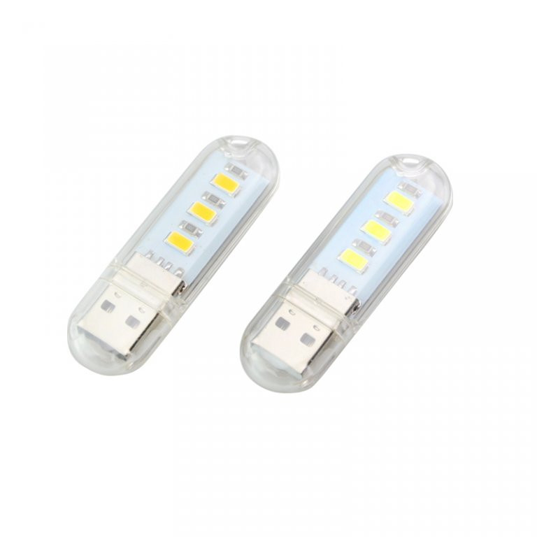 USB LED светильник брелок в виде флэшки