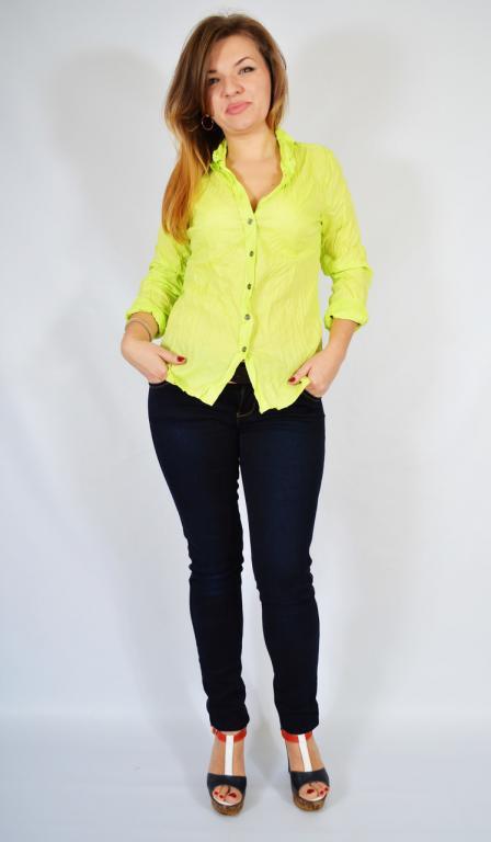 056cd897f834bfd Рубашка женская неоновая салатовая, 48-56 р-ры: продажа, цена в ...