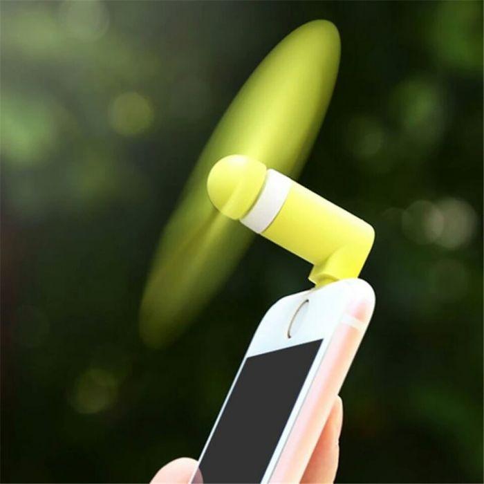 Мини OTG вентилятор для Android. Салатовый