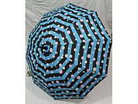 Зонт трость полосатый в горошек