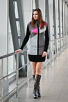 Вязаная женская туника, платье Геометрия в расцветках