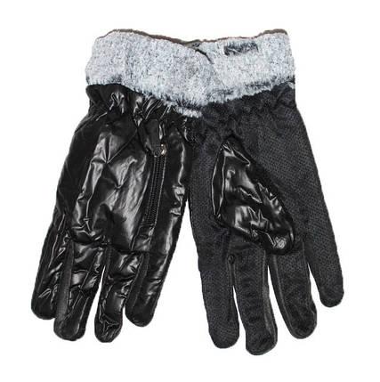Оптом мужские болоньевые перчатки с противоскользящей ладошкой - №16-6-8, фото 2
