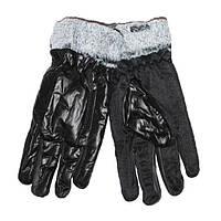 Оптом мужские болоньевые перчатки с противоскользящей ладошкой - №16-6-8