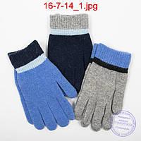 Оптом ангоровые перчатки для мальчиков - №16-7-14, фото 1
