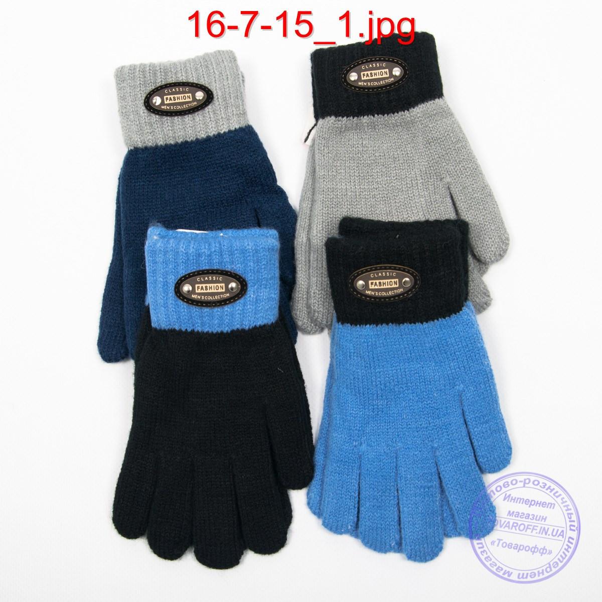 Оптом шерстяные перчатки для мальчиков - №16-7-15