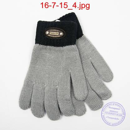Оптом шерстяные перчатки для мальчиков - №16-7-15, фото 2