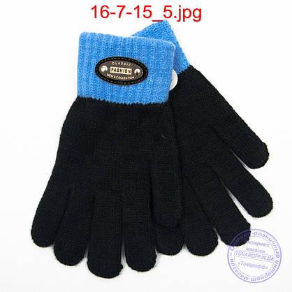 Оптом шерстяные перчатки для мальчиков - №16-7-15, фото 3