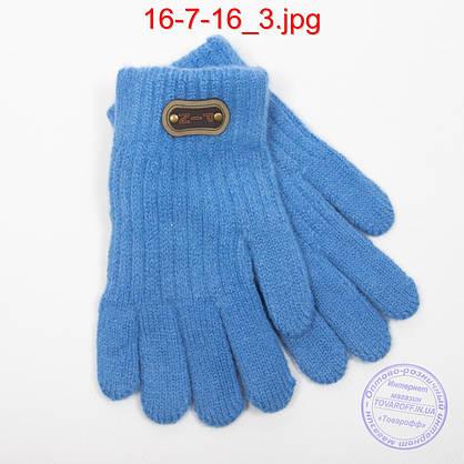 Оптом ангоровые перчатки для мальчиков - №16-7-16, фото 3
