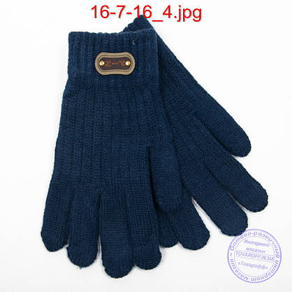 Оптом ангоровые перчатки для мальчиков - №16-7-16, фото 2
