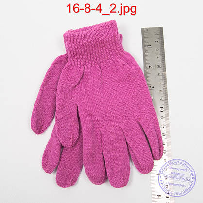 Оптом подростковые перчатки - №16-8-4, фото 2