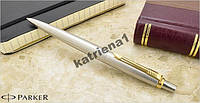 Ручка шариковая Паркер Parker Jotter Stainless Steel GT с гравировкой Тризуб или без