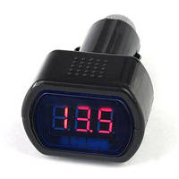 Вольтметр Автомобильный цифровой в прикуриватель 8~30В DC