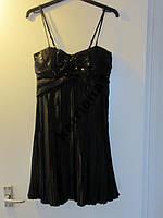 Платье на бретелях бельевой стиль BAY плиссе / пайетки S-M