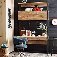 Модульный стол из дерева и метала
