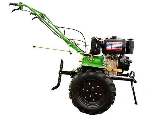 Дизельный мотоблок BIZON 1100BE (9 л.с.) колеса 5.00-12, фото 2