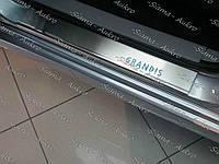 Накладки порогов Mitsubishi Grandis 2003-11