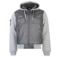 Мужская утепленная куртка Everlast Lined Zip серая, фото 1