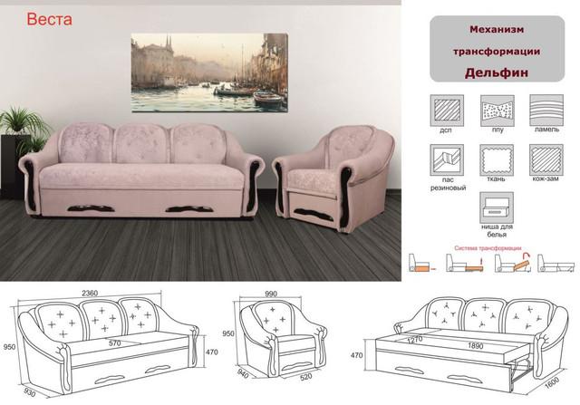 Кресло Веста не раскладной (характеристики)