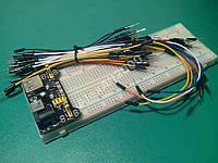 Макетная плата  830 + MB102  + провода 65шт